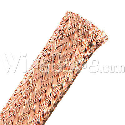 "MBC0.50CP - Bare Copper Tube Braid 1/2"" - 10 Ft Cuts"