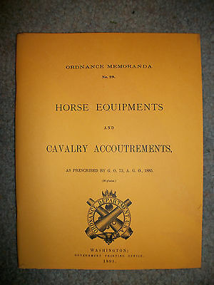 Reprinted Indian Wars Horse Equipments & Cavalry Accoutrements Booklet 1891