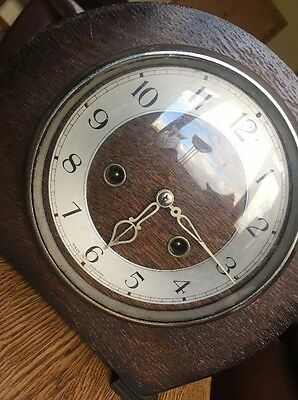 Old Vintage Smiths Enfield Clock - Chimes every half hour