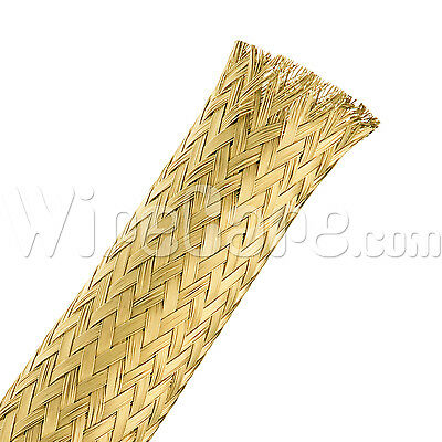 "MBB0.50BRS - Bare Brass Tube Braid 1/2"" - 10 Ft Cuts"