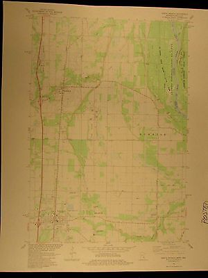 North Branch Minnesota Wisconsin 1983 vintage USGS Topo color chart map