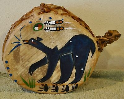 Mato (Bear)/Native American Drum Painted by Lakota Artist Sonja Holy Eagle