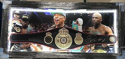 Floyd Mayweather Jr Signed WBA World Champion Boxing Belt Framed TBE TMT COA