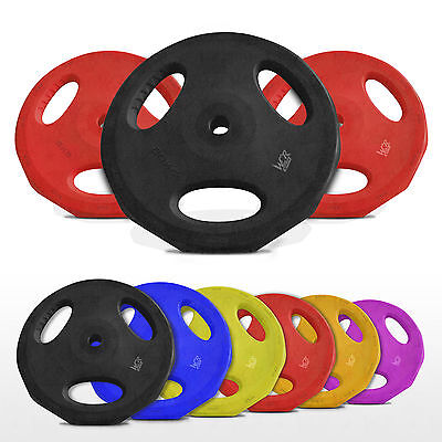 "Rubber Disc Weight Plates EZ Bar Barbell Weights Plate Home Fitness 1"" 25mm Hole"