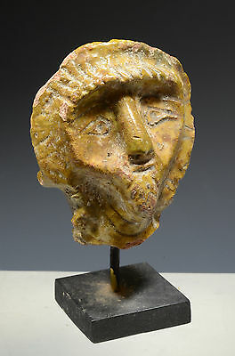 Near Eastern Glazed Pottery Head, 2nd Millennium B.C.