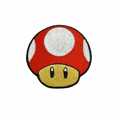 Mario's Mushroom Embroidered Patches Sew Iron On Badge Bag Jeans Jacket Applique