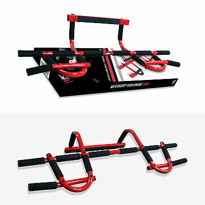 Door Gym Exercise Iron Man Bar Chin Ups Pull Ups Sit Up Gym Fitness Workout Red