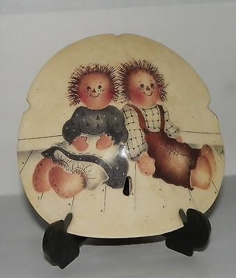 Beautiful Hand Painted? Raggedy Ann & Andy Sand Dollar Decorative