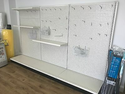 9' Metal Display Shelving Unit for Commercial Use