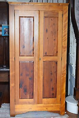 Antique Armoire Wardrobe Cedar Original Lakeside Craft Shops Sheboygan Wisconsin