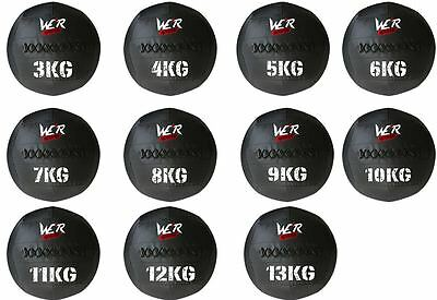 "Wall Ball Medicine Ball Crossfit Core Training Gym 14"" 3kg to 13kg"