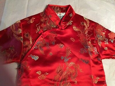 CHINESE ASIAN CULTURAL Kimono Princess Dress Girls Sz 6 RED Geisha COSTUME Gift