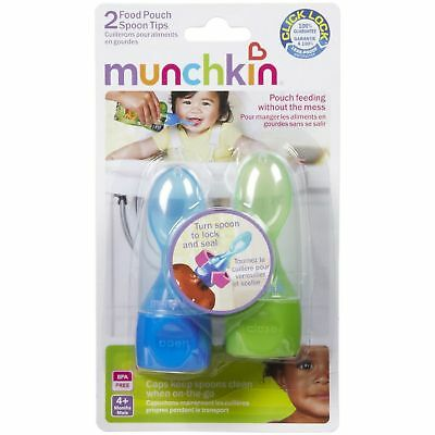 Munchkin Click Lock Food Pouch Spoon Tips 2pk - Assorted Colors - 15537