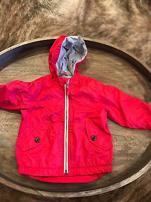 Baby Gap Toddler Boys Lined Zip Up Jacket, 18-24 Months Red