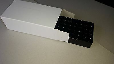 ****CARDBOARD AMMO BOX WITH PLASTIC TRAY INSERT FOR 9mm/.380 QTY25****