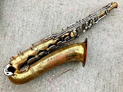 Noblet Standard Tenor Saxophone Made In France Sax Vintage project horn