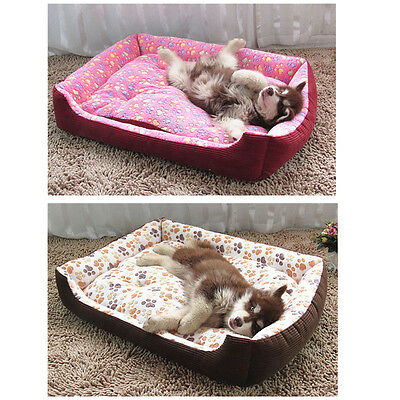 Pet Dog Cat Bed Puppy Cushion House Pet Large Soft Warm Kennel Dog Mat Blanket
