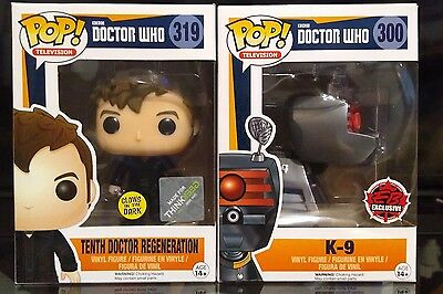 Funko pop! #319 and # 300 K-9 and TENTH DOCTOR REGENERATION EXCLUSIVES