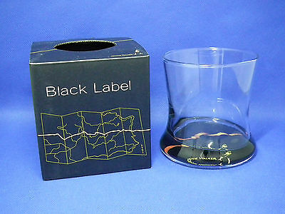 Johnnie Walker Whisky Black Label Glass with Box NEW