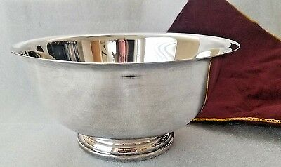 """Vintage GORHAM Paul Revere Silver Plate Footed Bowl Serving Dish YC784 10"""" x 6"""""""