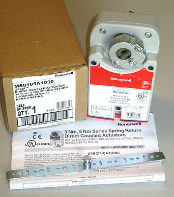 Honeywell MS8105A1030 Zelix Direct Coupled Actuator, 24 Volt, Spring Return