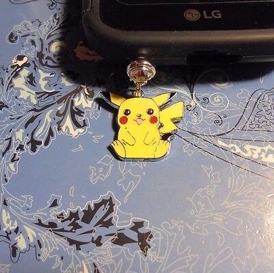Pikachu Pokemon Cell Phone Charm~Dust Plug Cover~Iphone-Smartphone 3.5mm