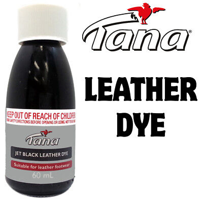 Leather Dye Jet Black  - Restores Recolours & Dyes Leather Suede & Nubuck