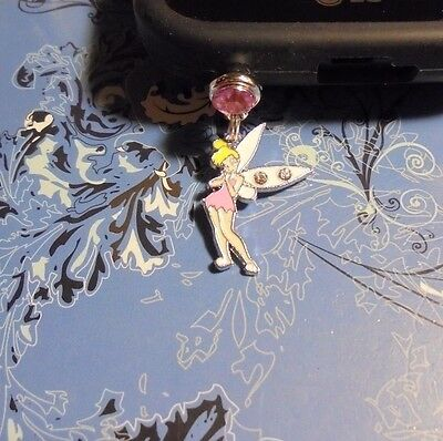 Tinkerbell Cell Phone Charm~Dust Plug Cover~Iphone-Smartphone 3.5mm