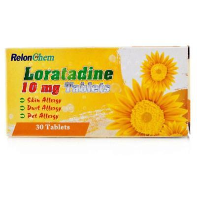 6 X Loratadine Hayfever and Allergy Relief 10mg - 30 Tablets Non Drowsy