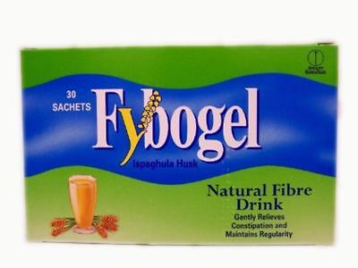 Fybogel Plain Natural Fibre Drink (2x30) Sachets x 60**Free Post**