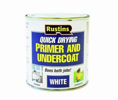Rustins Quick Dry Primer Undercoat For Wood MDF Brickwork White NEW WHPU 250ml