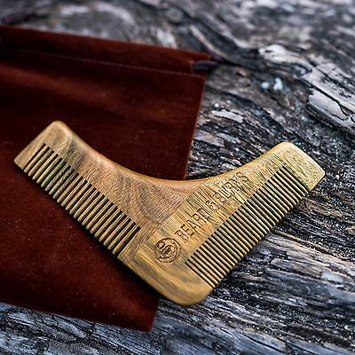 Beard Grooming, Styling And Shaping Comb - Template Tool Shaving For Men