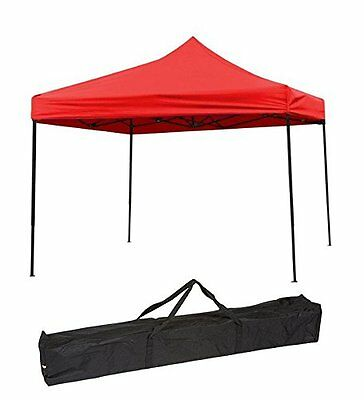 Trademark Innovations Portable Event Canopy Tent, Red, 10 x 10-Feet