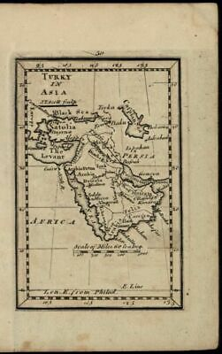 Arabia Levant Ottoman Empire Turkish Asia 1798 rare American miniature Scott map