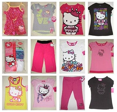 NWT 50 Hello Kitty Top Shirt Short Pant Dress Clothes Resale Wholesale Lot NEW