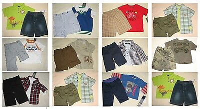 NWT 12 Infant Boy 2 or 3 Pc Spring Summer Complete Outfit Set Resale Lot NEW