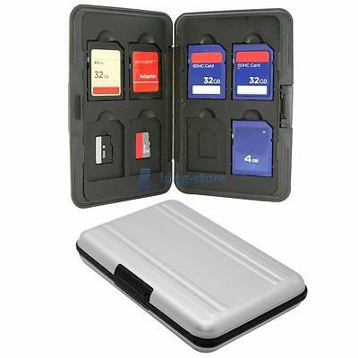 Memory Card Storage Box Case Holder with 8 Slots for Micro SD Cards SD SDHC MMC
