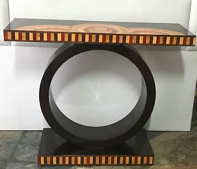Art Deco  Inlaid Hooped Base Hall/console Table Modernist Retro C1920