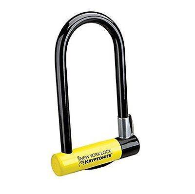 Kryptonite New York Standard Bicycle U-Lock with Transit FlexFrame Bracket,...
