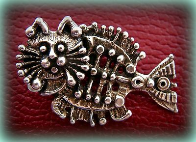 CAT FISH Kitten Kitty Pendant Jewelry - STOINOFF Design - STEAMPUNK