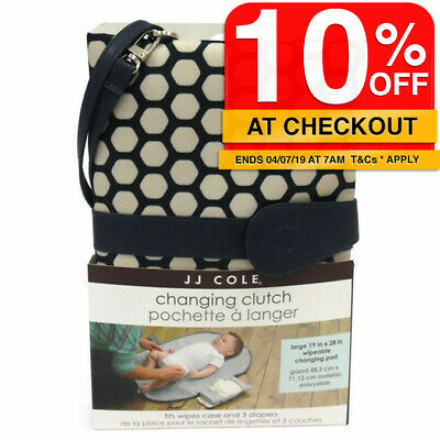 Navy Hexagon Baby Nappy/Diaper Changing/Change Clutch/Mat/Foldable Wallet/Bag