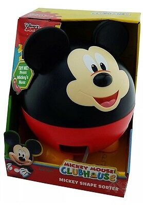 Disney MICKEY MOUSE Talking SHAPE SORTER teaches Shapes Numbers Letters NEW!