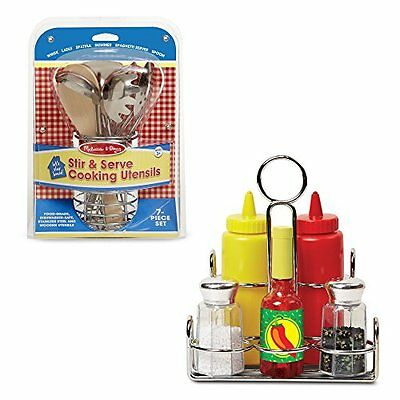 MELISSA & DOUG Cooking Utensils, Kitchen Accessory and Condiments Set