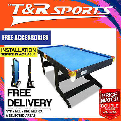 New 6FT Foldable / Fold Away Pool Table for Billiard Snooker Small Room Free Acc