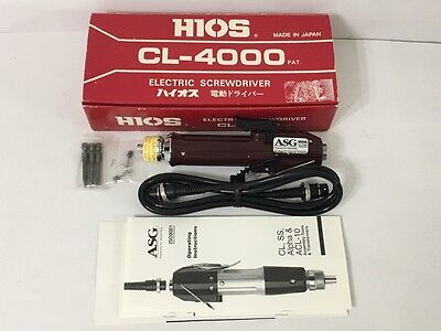 Hios Cl-4000 Electric Driver Made In Japan Brand New Free Same Day Shipping
