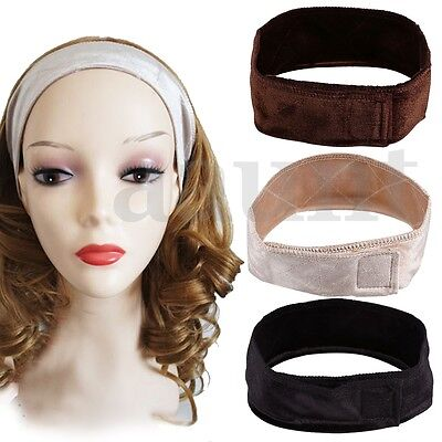 Flexible Adjustable Velvet Wig Grip Fastern Head Hair Band WiGrip Fit All Heads