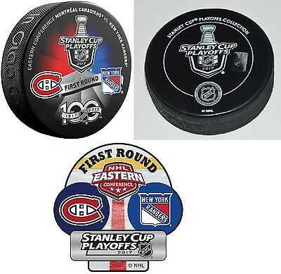 Montreal Canadiens Vs New York Rangers 2017 Nhl Playoffs Puck Dueling 1St Round