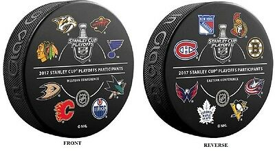 2017 1St Round Playoffs Puck Nhl 16 Participating Teams L/e Stanley Cup Final