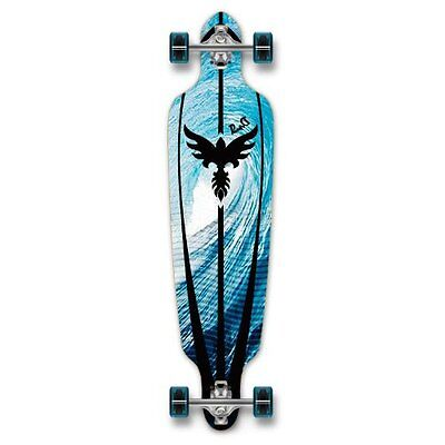 YOCAHER Drop Through Graphic Complete Longboard Professional Speed...