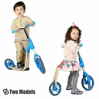 Vokul Blue Gh03 2-in-1 Balance Bike and Mini Kick Scooter for age 2-5,...